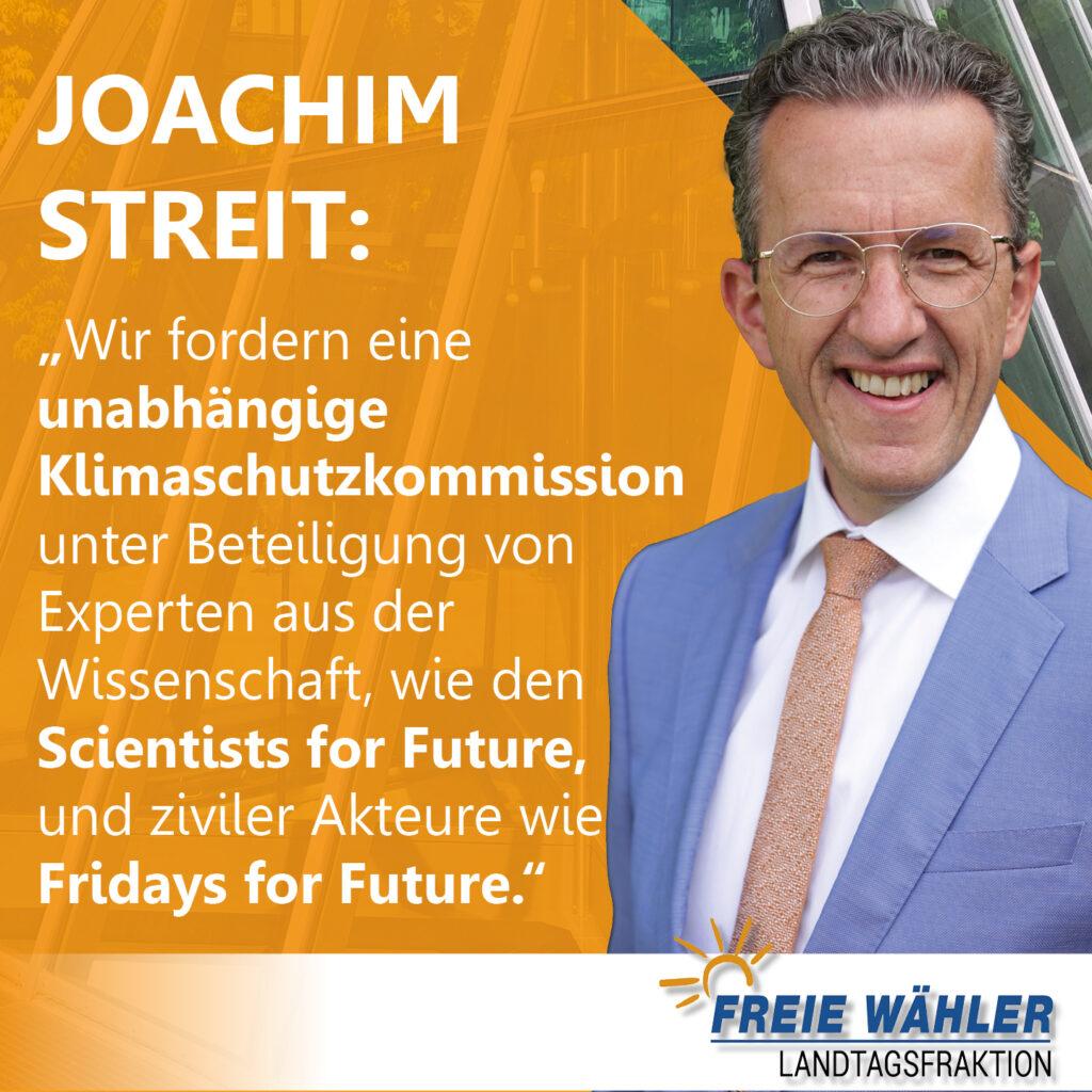 Joachim Streit fordert unabhängige Klimaschutzkommission
